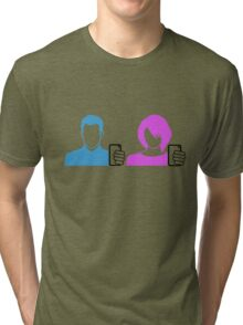 selfie love symbol icon of a self portrait for her and him photograph  Tri-blend T-Shirt