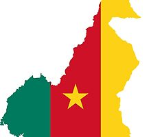Flag Map of Cameroon  by abbeyz71