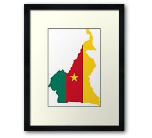 Flag Map of Cameroon  Framed Print