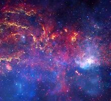 NASA's Great Observatories Examine the Galactic Center Region - Hubble Space Telescope by allposters
