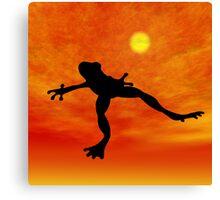 Frog Jumping Canvas Print