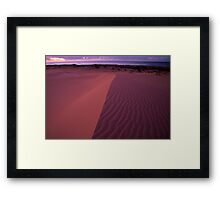 Pastel Dunes  Framed Print