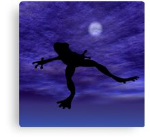 Frog Jump Canvas Print