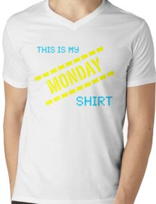 My Monday Shirt Mens V-Neck T-Shirt
