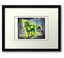 Radiant Unicorn Framed Print