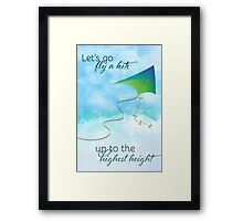 Let's Go Fly a Kite! Inspired by Mary Poppins Framed Print