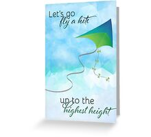 Let's Go Fly a Kite! Inspired by Mary Poppins Greeting Card
