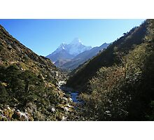 Up the Valley to Ama Dablam Photographic Print