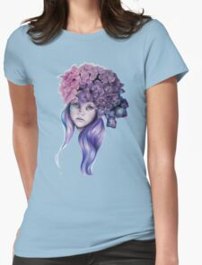 Hydrangea Womens Fitted T-Shirt