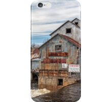 The Old Mill and the raging river iPhone Case/Skin
