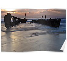 Sunrise over the SS Dicky Poster