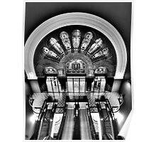 Escalation In Black and White - QVB , Sydney - The HDR Experience Poster