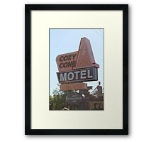 The Cozy Cone Motel Framed Print