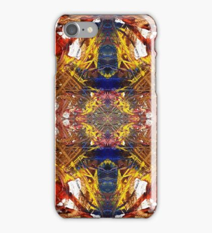 Paint Collage Mirror images iPhone Case/Skin