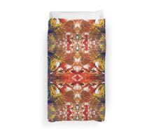 Paint Collage Mirror images Duvet Cover