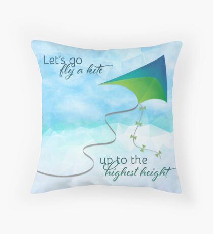 Let's Go Fly a Kite! Inspired by Mary Poppins Throw Pillow