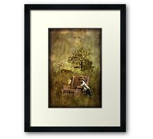 The Chair and a Boy Framed Print