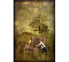 The Chair and a Boy Photographic Print