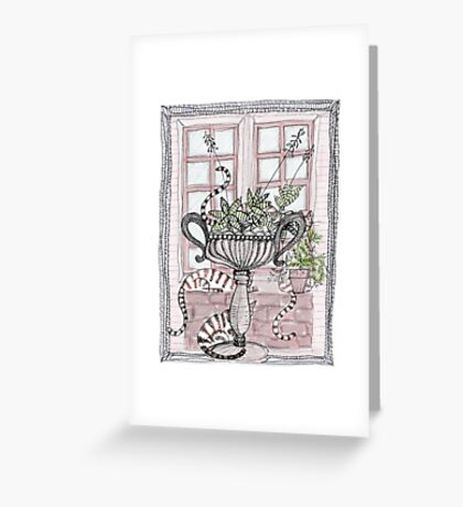 coloured tails Greeting Card