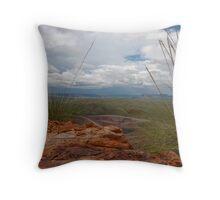 View from East Ridge - Argyle Diamond Mine Throw Pillow
