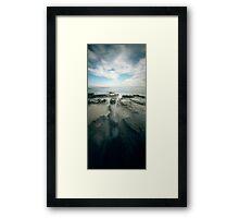 when time happens: grey river Framed Print