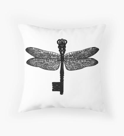The Dragonfly Key Throw Pillow