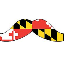Maryland Flag Mustache by canossagraphics