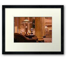 Old Victorian Style ~ Stained Glass Lamps Framed Print