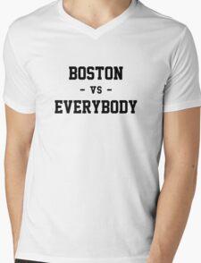 Boston vs Everybody Mens V-Neck T-Shirt