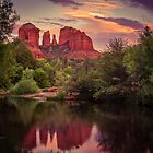 Sunset at Cathedral Rock by George Trimmer