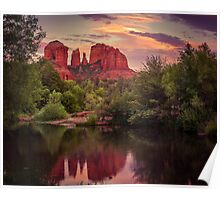 Sunset at Cathedral Rock Poster