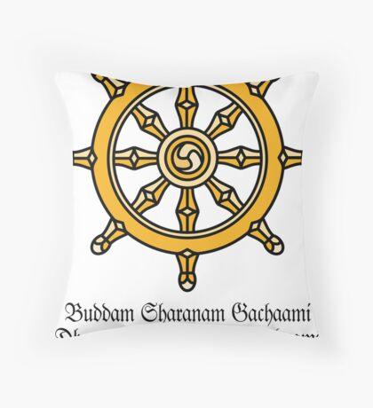 Buddha's Dharma Chakra, India Throw Pillow