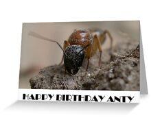 Happy Birthday Anty Greeting Card