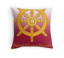 Buddha's Dharma Chakra, India Throw Pillow