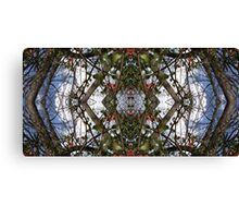 Mirrored Tree Collage 1 Canvas Print