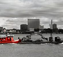 Little Red Tug by Barry W  King