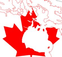 Canada Flag Map  Sticker