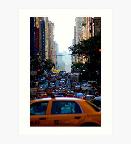 Taxi...! Art Print