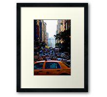 Taxi...! Framed Print