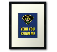 You down with OPP? Framed Print
