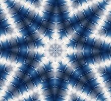 Wavy Blue & White Octogram by Sanguine