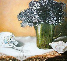 Lilacs and Lace by Cathy Amendola