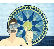 Snorkeling with Mariner's Compass Photographic Print