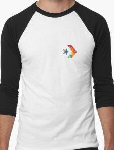 Tie Dye Converse Logo  Men's Baseball ¾ T-Shirt