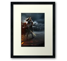 To War: Commander Lexa Framed Print