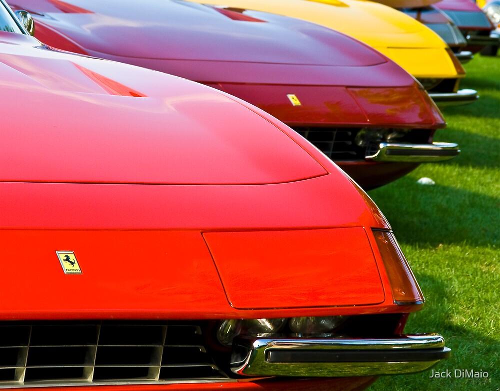 Ferrari Daytona Fronts by Jack DiMaio