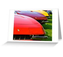 Ferrari Daytona Fronts Greeting Card