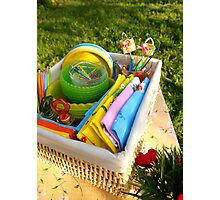 Bright color summer picnic accessories Photographic Print