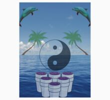 vaporwave ying yang by Zach Muldoon