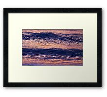 lumps and swirls Framed Print
